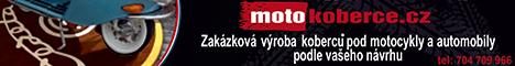 Zakázková výroba koberců pod motocykly a automobily podle vašeho návrhu.